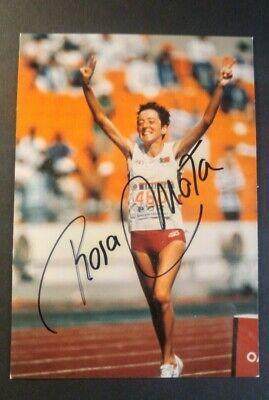 Rosa Signed (ROSA MOTA Signed 1988 Olympics Photo Card She Won Gold medal in Women's Marathon )