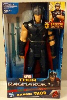 Marvel Thor Ragnarok Interactive Electronic Thor Action Figure New MISB