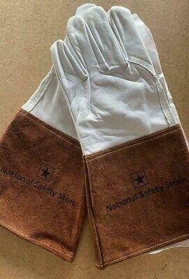 Nss Top Grain Goatskin Tig Welding Gloves With 4 Cuff Size L - True Goatskin -