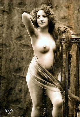 A4 Vintage 1920's Art Deco Pretty Nude Girls ..Victorian/Edwardian Beauties 251