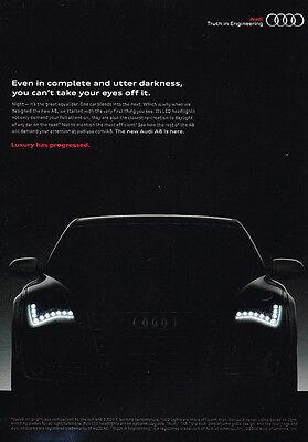 2012 Audi A8 Original Advertisement Car Print Ad J319