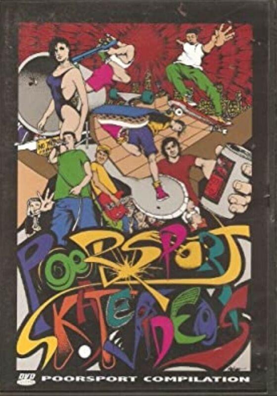 RARE Poorsport Skateboard Video Collection Skate DVD Rocko 80