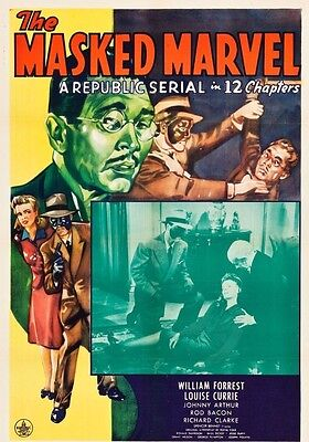 - The Masked Marvel 1943 Republic movie serial in case with artwork Free Shipping