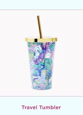 NWT Lilly Pulitzer Tumbler Mermaid In The Shade Free Shipping ()