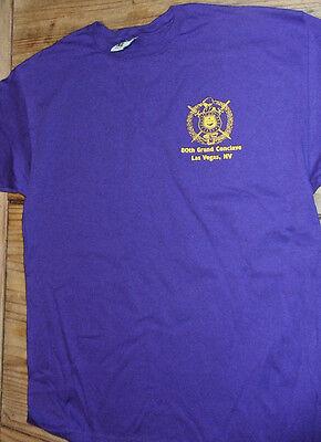 Omega Psi Phi Clave T Shirt  Escutcheon Purple Xl