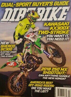Dirt Bike Feb 2018 Kawasaki America's Best Off Road Riders FREE SHIPPING