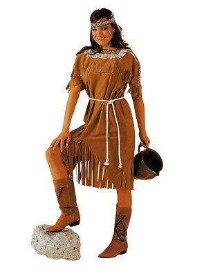 Indianerin Squaw Kostüm Cowgirl Karneval Gr.46/48