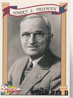 FREE SHIPPING-MINT-1992 Pacific World War II #18 Harry S Truman