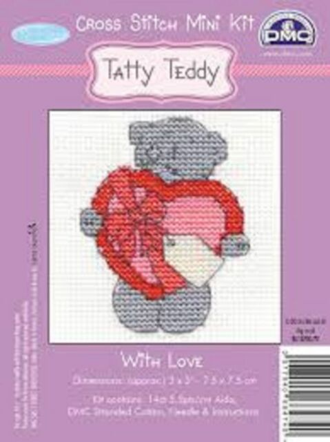 DMC TATTY TEDDY RANGE WITH LOVE BL1070C 8 to collect FREE POST & PACKING