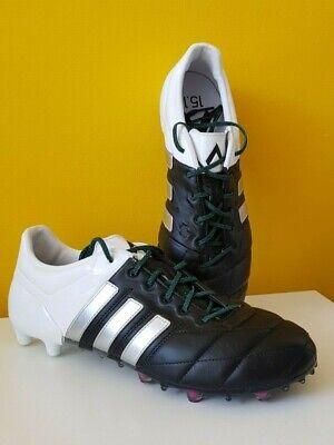 BNIB Adidas Ace 15.1 FG/AG Black White Football Boots UK 10