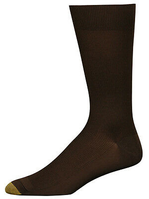 $45 GOLD TOE New Men/'s 4-Pair Pack Dress Crew Socks ARGYLE BLACK Shoe Size 6-12