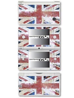 Gb - Union Jack Flagge - Verzweifelt Stil - Vinyl Skin Sticker für Nintendo Dsi