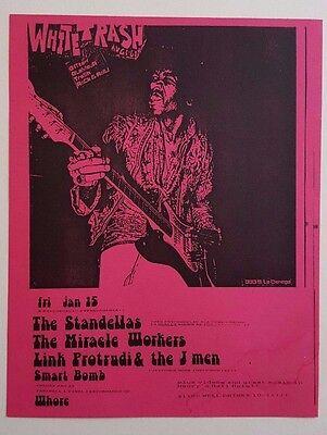 The Standellas (Pandoras) Miracle Workers/Fuzztones Original Concert Flyer 1988