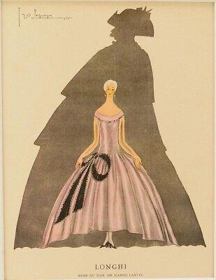 Georges LePape Art Deco Fashion Plate 1925 France