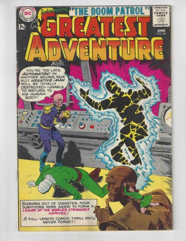 My Greatest Adventure #80/Silver Age DC Comic Book/1st Doom Patrol/FR-GD
