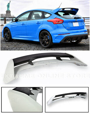 Ford Focus Spoiler (For 13-Up Ford Focus Hatchback JDM RS Style PRIMER BLACK Rear Roof Wing)