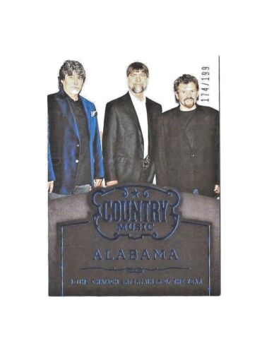 ALABAMA - 2014 PANINI COUNTRY - ENTERTAINER OF THE YEAR / BLUE # 174/199