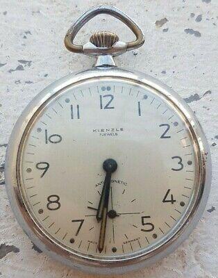 Kienzle Vintage German Art Deco Mechanical Pocket Watch 7 Jewels 1960s