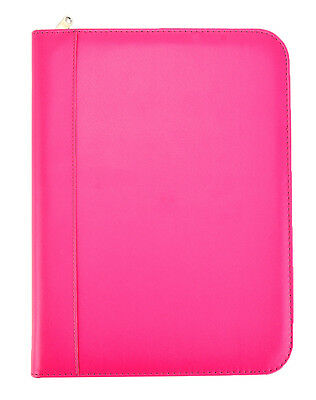 A4 Pink Deluxe Business Conference Ring Binder Portfolio Cl-731pk