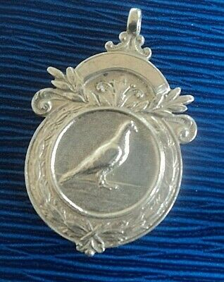 Vintage Serling Silver Fob Medal  -  Racing Pigeon h/m 1959  -  not engraved