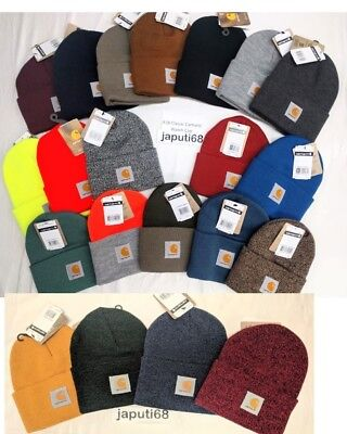 Carhartt Acrylic Watch Cap - Carhartt A18 Acrylic Knit Watch Cap Hat  ALL COLORS!! [C1-18] Ready to Ship