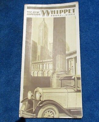 Whippet Fold Open Sales Brochure Vintage Original Very Nice Used RARE !!!