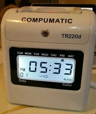 Compumatic Tr220d Heavy Duty Time Clock No Key