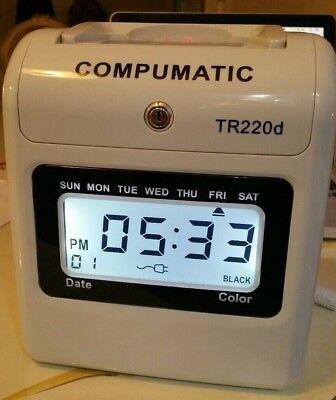 Compumatic Tr220d Heavy Duty Time Clock No Key