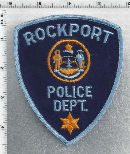 Rockport Police (Maine) 1st Issue Shoulder Patch - new from 1985