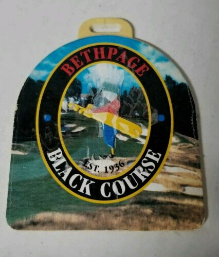 Bethpage BLACK Bag Tag of Hole #18 that Ships Free w/Buy it Now!