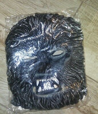 Rubie's Costume The Wolfman Black Mask and Fingers ONLY, NIB Never used!