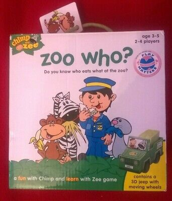 ZOO WHO? - CHIMP AND ZEE GAME - COMPLETE IN BOX for sale  Shipping to Nigeria