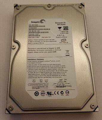 "Seagate Barracuda ES 500GB SATA 7200RPM 3.5"" Desktop Hard Drive HDD ST3500630NS"