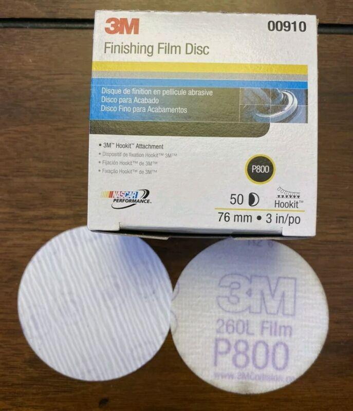 3M Hookit Finishing Film Abrasive Disc 260L, 3 in, P800, (50/PKG), Item # 00910