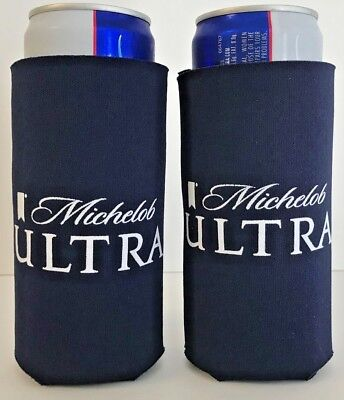 Michelob Ultra Slim Can Koozie 12 oz Cooler Holder ~ SET Of TWO (2) New & F/Ship
