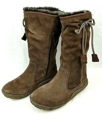 Cushe Womens Cascade Suede Waterproof Lined Winter Snow Boots Dark Brown Size 6