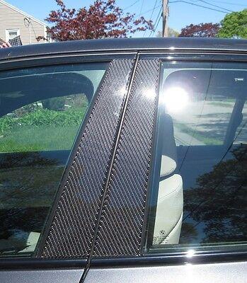 Fits Cadillac Catera 1997-2001 Real Carbon Fiber Black Window Pillar Posts 2PCS
