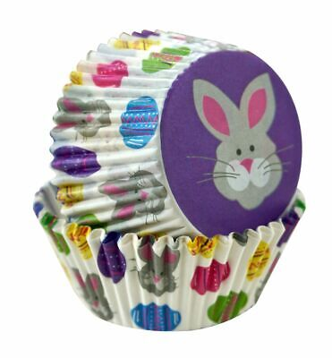 Easter Bunny and Eggs Cupcake Liners - 50 Count - 2517 - Easter Cupcake