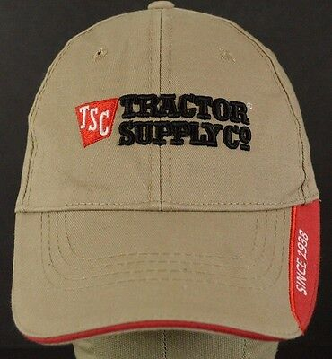 Tan  Tractor Supply Co Since 1938 Baseball Hat Cap Embroidered Adjustable Strap
