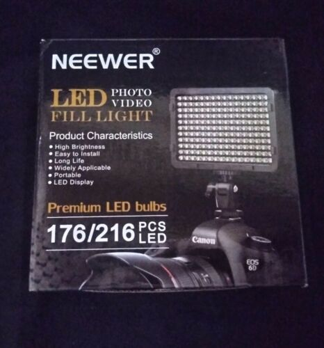 Neewer On Camera Dimmable 176 LED Video Light Panel With 1/4 Thread For DSLR - $16.99