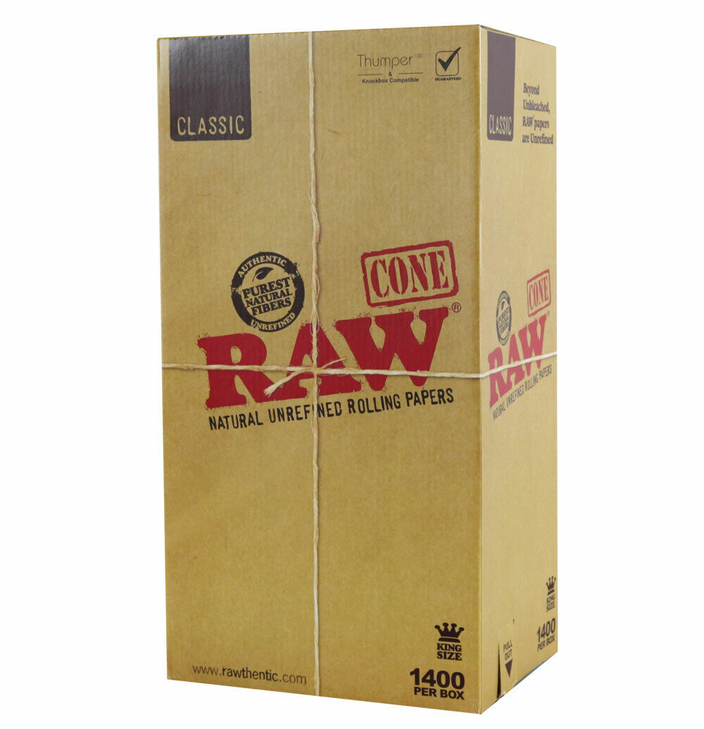 "1400pc Box - RAW Classic Cones - 4.25"" / Kingsize"