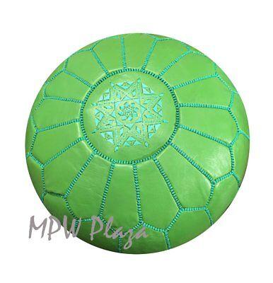 Moroccan Pouf Ottoman, Green by MPW Plaza, Stuffed ()