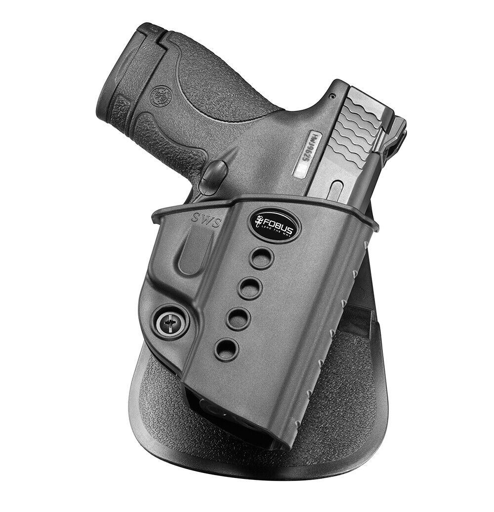 NEW Fobus SWS Right Hand Paddle Holster Smith /& Wesson M/&P Shield 9mm /& .40cal