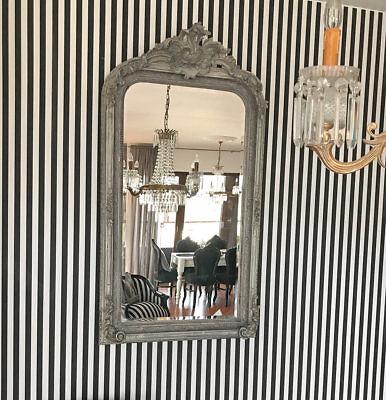 Espejo Vintage de Pared Chimenea Rococó Pie Antiguo Barroco