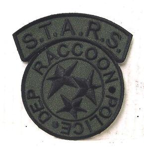 Resident-Evil-STARS-Racoon-Police-Green-Black-Camo-Logo-4-Patch-REPA-105