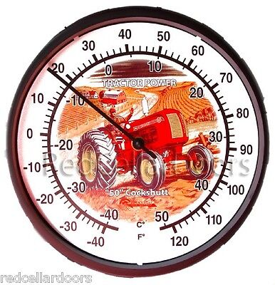"NEW ILLUSTRATED COCKSHUTT 50 TRACTOR 10"" ROUND THERMOMETER FARMER GIFT IDEA"