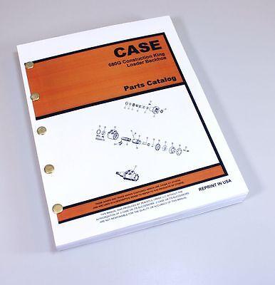 J I Case 680g Ck Construction King Backhoe Parts Manual Catalog Exploded View