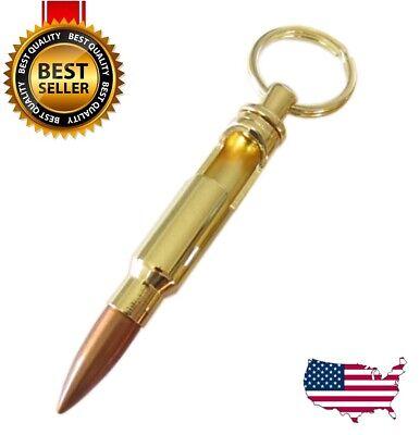0.308 Cal Bullet Shell Bottle Opener Beer Soda Gold Keychain Key Ring Bar Tool