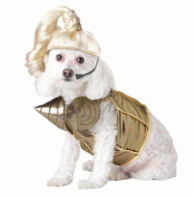 Pop Queen 80's Star Gold Retro Rock Fancy Dress Up Halloween Pet Dog Cat Costume