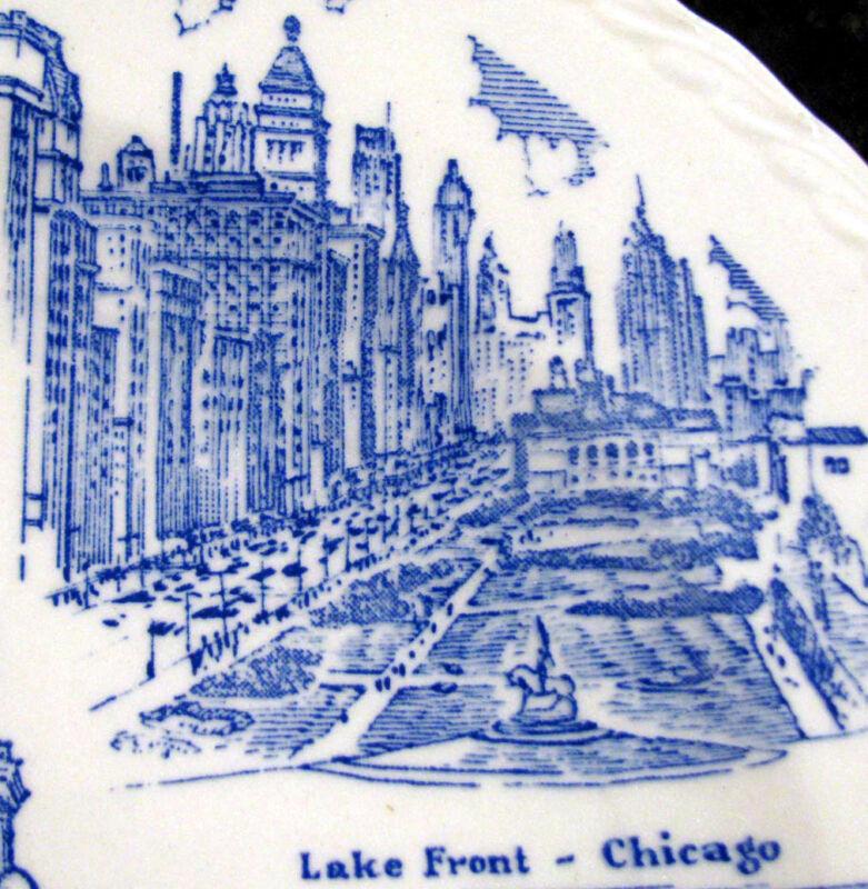 ILLINOIS*Blue Melinda Collector's Plate*Vernon Kilns Pottery 1940s